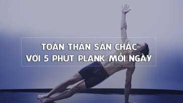 5 phút plank mỗi ngày